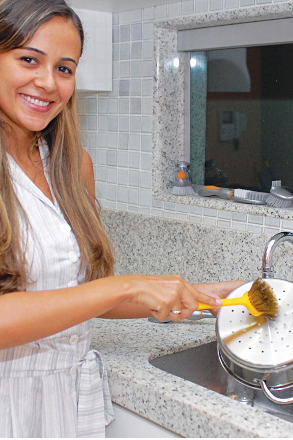 Escova Plástica Tondo Ottone Cód.410