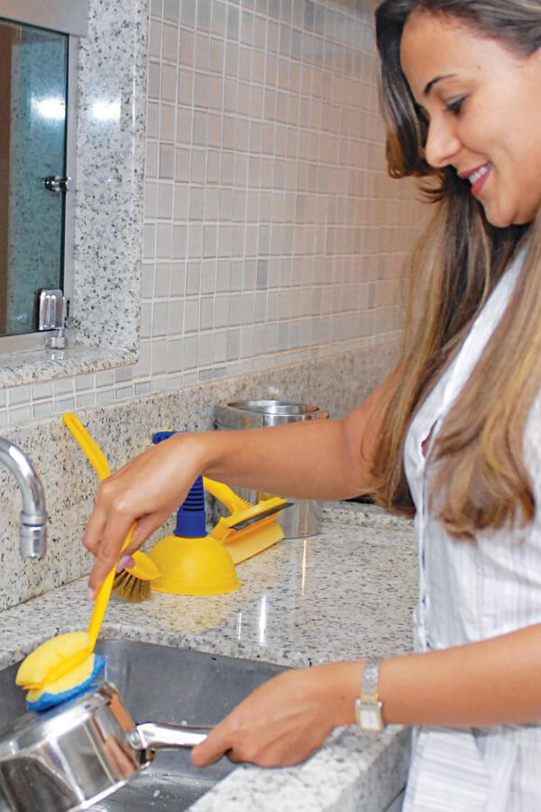 Escova de Lavar Prato C/ Refil Cód.411